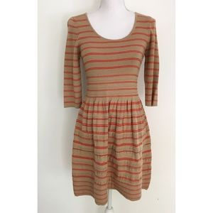 623c067e937 Anthropologie Dresses - EUC Knitted   Knotted Elodie Striped Sweater Dress